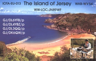 QSL-Postkarte The Island Of Jersey